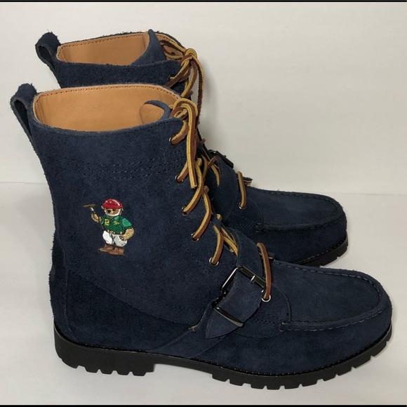 New Polo Ralph Lauren Ranger Boots Bear